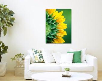 Sunflower Canvas Art, Sunflower Print, Wall Art Canvas, Fine Art Photography, Stretched Canvas Gallery Wrap Art Decor, Flower Photography