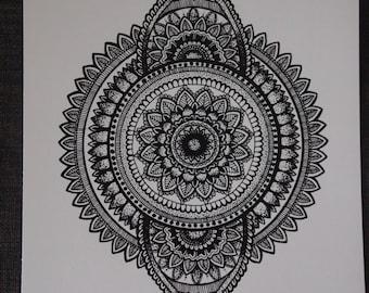 8x10 Ornate Mandala