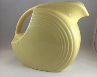Yellow Fiestaware Pitcher - Disc Pitcher - Yellow Fiestaware - Drink Pitcher - Yellow Kitchen - Vintage Fiestaware - Large Disc Pitcher