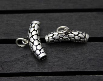 Sterling Silver Bails,Pendant Bails,Charm bails,bail tube,tube bails,bail connector,charm holder bail,spacer bail charm,spacer bead