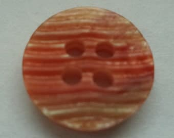 10 small buttons 12mm red white (6789)