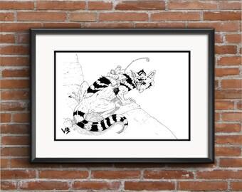 Moebius, Art Print, Moebius Poster, Moebius Art, Moebius Print, Moebius Illustration, Black and White Print, Comic Book Print, VillainBros