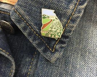 Vintage Georgia state enamel lapel pin (stock# t22)
