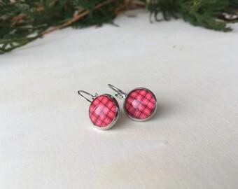 Earrings, glass cabochons!