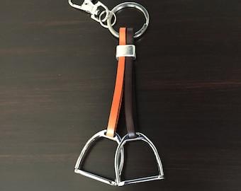 Horse Stirrup Keyfob Keychain - Equestrian Gift