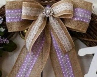 Wedding Bows, Church Pew Bows, Wreath Bow, Spring Bow, Decorative Bow