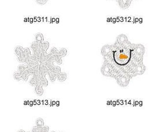 FSL-Snowflakes  ( 5 Machine Embroidery Designs from ATW )  XYZ17C