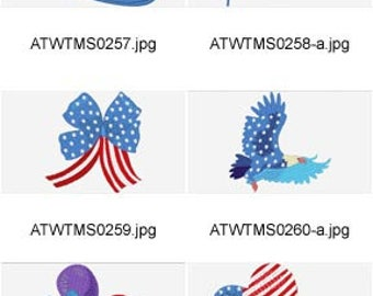 July-4 ( 10 Machine Embroidery Designs from ATW ) XYZ17D