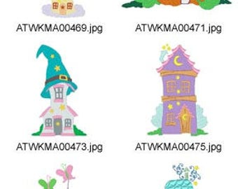 Enchanted-Houses ( 10 Machine Embroidery Designs from ATW ) XYZ17E