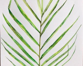 Monsterea leaf botanical print