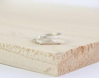 Misty Twig Ring, Sterling Silver, Silver Twig Ring, Stacking Ring, Twig Stacking Ring, Silver Twig Stacking Ring, Stacking Twig Jewelry
