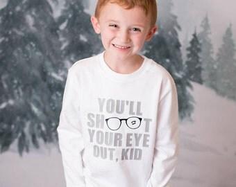 Boys christmas shirt, Christmas story shirt, toddler boy christmas shirt, christmas bodysuit, christmas shirt, white shirt