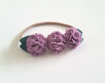 Felt Flower Headband, Felt Flower Hair Clip, Hydrangea Cluster, CUSTOM COLORS