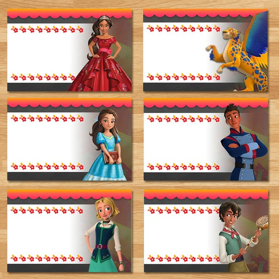 Elena of Avalor Food Tents - Chalkboard - Elena Food Labels - Disney Princess Favors - Princess Elena Printables - Elena of Avalor Party