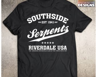 Southside Serpents/cosplay/ adult cosplay shirt/ teen cosplay/ south side serpents/ unisex adult shirt