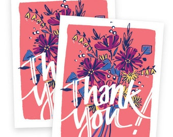 Thank You Bouquet • Set of 8 cards