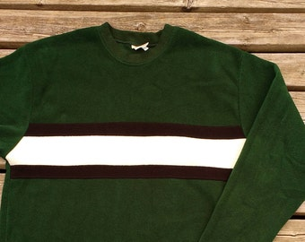 Pure 90's Plain Jane Fleece Pullover Sweater - Medium - Fibres - The Ultimate in Casual Wear - Authentic Quality