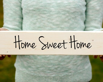 Home Sweet Home, Wood Sign, Custom Wooden Signs, Wooden Sign, Rustic Wood Sign, Home Sweet Home Sign, Home Wall Decor, Housewarming Gift