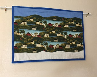 Welcome Home Wall Hanging (blue border)