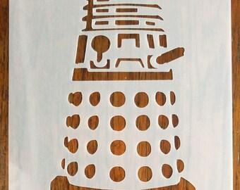 DALEK Stencil Mask Reusable Mylar Sheet for Arts & Crafts
