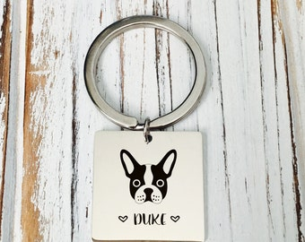 Puppy Keychain/ Dog Keychain /Dog name keyring/personalized keychain/ family name keyring/birthday present/Mother's gift