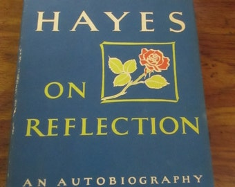 On Reflections Helen Hayes- An autobiography - 1968- with Sandford Dody- Shelf wear/ tanning on book & dust cover due to age-