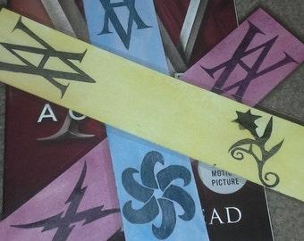 Vampire Academy Watercolor Bookmarks
