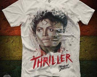 Michael Jackson Thriller Unisex White T Shirt Graphic Tee Michael Jackson Men Shirt Michael Jackson Girl Shirt Size S M L XL 2XL