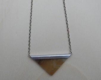 Necklace, Tiffany, triangle, glass, handmade