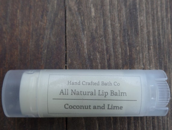 Lip Balm, Coconut & Lime, Organic Coconut Oil, Shea Butter, Beeswax