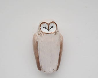 brown barn owl - a figurine