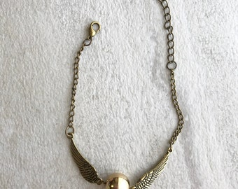 Harry Potter golden snitch quidditch bracelet gold and bronze