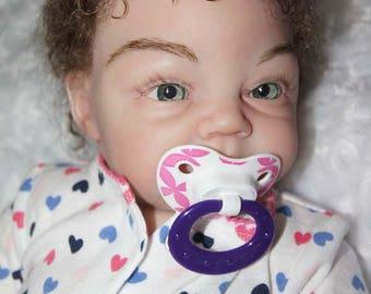 Natalie Reborn Babies girl doll Silicone Vinyl soft body doll 19 inch  Realistic Reborn doll Tummy Plate