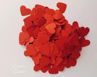 250 Piece Red Heart Confetti | Valentine's Day Decorations | Red Heart Confetti | Red Paper Hearts | Wedding Decorations | Wedding Confetti
