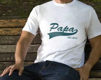 Papa Gift Tshirt Mens Gift T Shirt Father Printed Shirt Papa Family Shirt Daddy Custom Tee Men Gift Shirt Daddy Family Shirt Papa PA1006