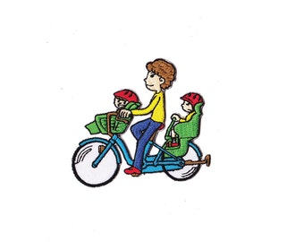 Bicycle Embroidered Iron patch - bicycle Iron on Applique