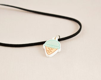 Acrylic necklace or choker - Ice cream