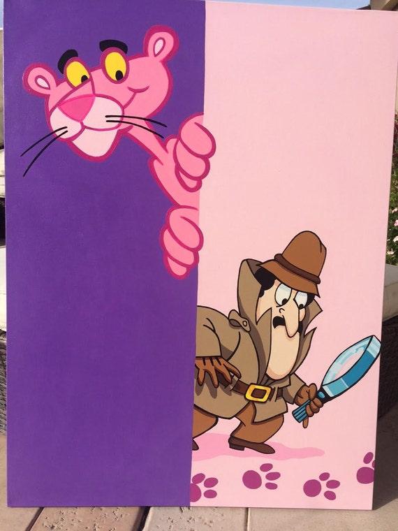La panth re rose dessin anim inspecteur clouseau peinture par - La panthere rose en dessin anime ...