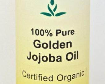 100% Pure Golden Jojoba Oil - CERTIFIED ORGANIC