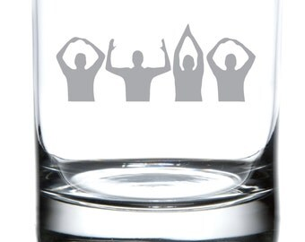 OHIO People - Ohio State Buckeyes Laser Etched Glassware