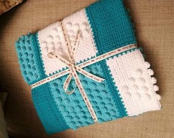 Beautifully Handmade Baby Crochet Moses Basket / Pram Blanket