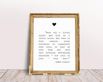True Love Prints,love Quote Decor,love Quote Print,love Quote Art,