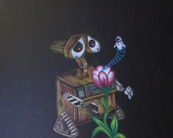 Wall-E and Eve Print / Disney Gift Idea