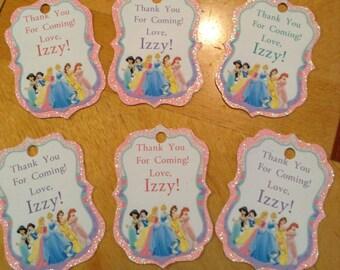 Disney Princess Favor Party Tags