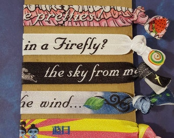 Firefly inspired FOE hair tie collection