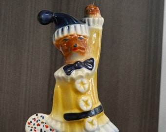 Jim Beam Bottle and Specialties Club Anniversary Clown Foxes 1979 and 1980 Fox Ceramic Figurines