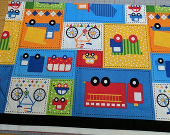 Ready Set Go Large Cars Cotton Fabric from Robert Kaufman