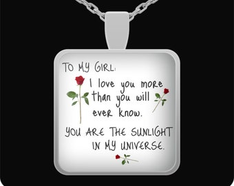 boyfriend girlfriend jewelry, girlfriend gift, gift for girlfriend, personalized girlfriend gift, girlfriend personalized pendant necklace