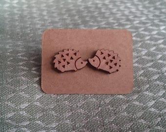 laser cut wooden earrings