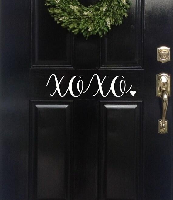 Xoxo Front Door Decal Front Door Decal Home Decor Vinyl